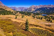 Fall color along the San Juan Skyway from Molas Pass, San Juan National Forest, Colorado USA