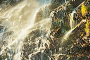 Detail of a waterfall alonh the highway. Gaspe Peninsula<br /> La Martre<br /> Quebec<br /> Canada
