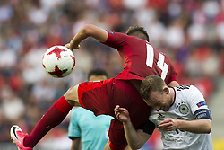 June 18, 2017 - Tychy, Poland - Patrick Schick of Czech fights for the ball with Maximilian Arnold of Germany during the UEFA European Under-21 Championship 2017 Group C match between Germany and Czech Republic at Tychy Stadium in Tychy, Poland on June 18, 2017  (Credit Image: © Andrew Surma/NurPhoto via ZUMA Press)