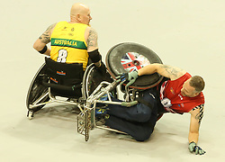 The UK and Australia fought a tough battle in the semi final of the wheelchair rugby semi final at the 2017 Invictus Games Toronto<br />