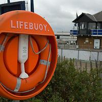 Lifebuoy housing, Chatham Harbour Marina, Kent