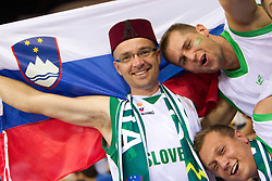 Fans of Slovenia during to the Preliminary Round - Group B basketball match between National teams of USA and Slovenia at 2010 FIBA World Championships on August 29, 2010 at Abdi Ipekci Arena in Istanbul, Turkey.  (Photo by Vid Ponikvar / Sportida)