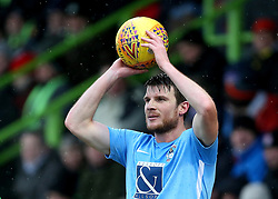 Coventry City's Chris Stokes takes a throw in