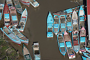 Fishing boats<br /> East GUYANA<br /> South America