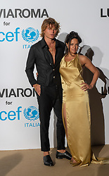 Jordan Barrett, Michelle Rodriguez arriving at a photocall for the Unicef Summer Gala Presented by Luisaviaroma at Villa Violina on August 10, 2018 in Porto Cervo, Italy. Photo by Alessandro Tocco/ABACAPRESS.COM