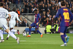 March 14, 2018 - Barcelona, Spain - OUSMANE DEMBELE of FC Barcelona controls the ball before scoring his side's second goal during the UEFA Champions League, round of 16, 2nd leg football match between FC Barcelona and Chelsea FC on March 14, 2018 at Camp Nou stadium in Barcelona, Spain (Credit Image: © Manuel Blondeau via ZUMA Wire)