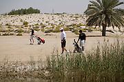 Abu Dhabi, United Arab Emirates (UAE). .March 20th 2009..Al Ghazal Golf Club..36th Abu Dhabi Men's Open Championship..John Fellingham (middle)