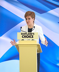 """Nicola Sturgeon Speech, 31 January 2020<br /> <br /> Scottish First Minister Nicola Sturgeon was in Edinburgh today to outline the SNP's next steps in the campaign for Scotland to become an independent country..<br /> <br /> The First Minister said:<br /> <br /> """"Tonight Scotland will be taken out of the European Union against the wishes of the overwhelming majority of people in Scotland.<br /> <br /> """"Nothing could more starkly demonstrate how our nation's needs are no longer served by a broken, discredited Westminster union.<br /> <br /> """"But there is the prospect of a brighter, better future as an equal, independent European nation.<br /> <br /> """"And today I will lay out the next steps on Scotland's journey to independence.<br /> <br /> """"We have a cast-iron democratic mandate for an independence referendum – and the latest polling shows a majority back Yes.<br /> <br /> """"Boris Johnson is terrified of the Scottish people having their say but his bid to stand in the way of democracy will not succeed.""""<br /> <br /> Pictured: First Minister Nicola Sturgeon <br /> <br /> Alex Todd 