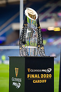 The Guinness Pro 14 Trophy on display before the 1872 Cup second leg Guinness Pro14 2019_20 match between Edinburgh Rugby and Glasgow Warriors at BT Murrayfield Stadium, Edinburgh, Scotland on 28 December 2019.
