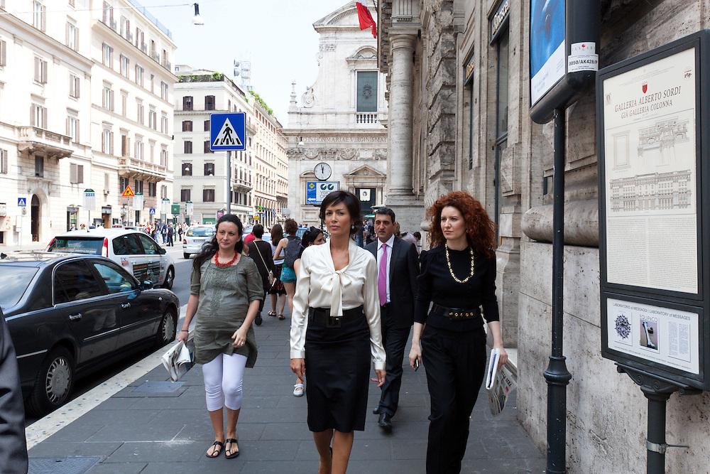 25 JUN 2010 - Roma - Mara Carfagna, Ministro per le Pari Opportunità, esce dalla sede del Ministero in largo Chigi - Rome (Italy) - Mara Carfagna, italian Minister for Equal Opportunities