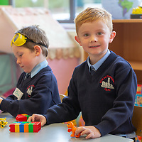 Daniel Crowe on his First day at school at Scoil Na Mainistreach Quin Dangan