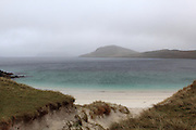 The white sandy beach at Vatersay in the Outer Hebrides, Scotland