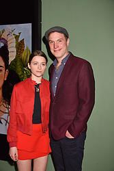 Daniel Lapaine and his daughter Parker at a preview of the 'From Selfie To Self-Expression' exhibition at The Saatchi Gallery, Duke Of York's HQ, King's Road, London, England. 30 March 2017.