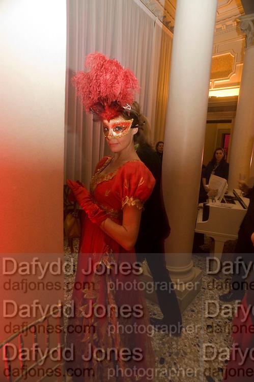 ALESSIA FABIENI, Francesca Bortolotto Possati, Alessandro and Olimpia host Carnevale 2009. Venetian Red Passion. Palazzo Mocenigo. Venice. February 14 2009.  *** Local Caption *** -DO NOT ARCHIVE -Copyright Photograph by Dafydd Jones. 248 Clapham Rd. London SW9 0PZ. Tel 0207 820 0771. www.dafjones.com<br /> ALESSIA FABIENI, Francesca Bortolotto Possati, Alessandro and Olimpia host Carnevale 2009. Venetian Red Passion. Palazzo Mocenigo. Venice. February 14 2009.
