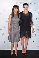 (LtoR) Carmen Ruiz with Blanca Romero attends a photocall for 'Fin', Room Mate Oscar Hotel, Madrid, Spain, November 20, 2012. Photo by Oscar Gonzalez / i-Images...SPAIN OUT