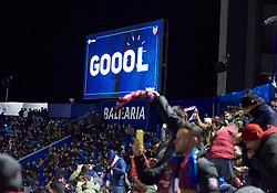 January 10, 2019 - Valencia, U.S. - VALENCIA, SPAIN - JANUARY 10: General view, fans of Levante UD celebrates the goal of Borja Mayoral during the Copa del Rey match between Levante UD and FC Barcelona at Ciutat de Valencia on January 10, 2019 in Valencia, Spain. (Photo by Carlos Sanchez Martinez/Icon Sportswire) (Credit Image: © Carlos Sanchez Martinez/Icon SMI via ZUMA Press)