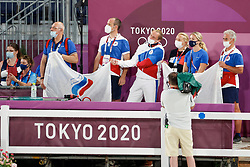 Kiss and Cry, Team Rusland<br /> Olympic Games Tokyo 2021<br /> © Hippo Foto - Dirk Caremans<br /> 24/07/2021