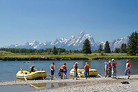Rafting the Snake River in Grand Teton National Park, WY.