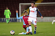 Andrew Tutte ,Devarn Green during the EFL Sky Bet League 2 match between Scunthorpe United and Bolton Wanderers at the Sands Venue Stadium, Scunthorpe, England on 24 November 2020.