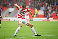 Doncaster Rovers midfielder Matty Blair celebrates scoring the first goal during the EFL Sky Bet League 1 match between Doncaster Rovers and Luton Town at the Keepmoat Stadium, Doncaster, England on 8 September 2018.