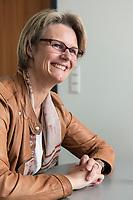 12 APR 2019, BERLIN/GERMANY:<br /> Anja Karliczek, CDU, Bundesministerin fuer Forschung und Bildung, waehrend einem Interview, in ihrem Buero, Bundesministerium fuer Forschung un Bildung<br /> IMAGE: 20190412-01-014<br /> KEYWORDS: Büro