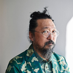 Paris, France. September 9, 2016. Artist Takashi Murakami posing at the Galerie Perrotin where his show opens on the day after. Photo: Antoine Doyen