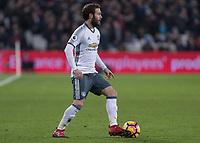 Football - 2016 / 2017 Premier League - West Ham United vs. Manchester United<br /> <br /> Juan Mata of Manchester United at The London Stadium.<br /> <br /> COLORSPORT/DANIEL BEARHAM