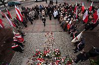 10.04.2013 Bialystok n/z zlozenie kwiatow pod pomnikiem ofiar katastrofy smolenskiej fot Michal Kosc / AGENCJA WSCHOD