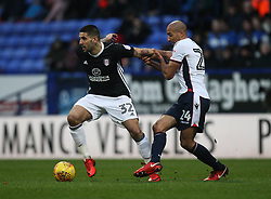 Aleksandar Mitrovic of Fulham (L) and Karl Henry of Bolton Wanderers in action - Mandatory by-line: Jack Phillips/JMP - 10/02/2018 - FOOTBALL - Macron Stadium - Bolton, England - Bolton Wanderers v Fulham - English Football League Championship