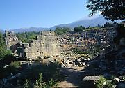 Amphitheatre ruins, Tlos, Turkey