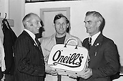 Presentation of an O'Neills bag after the All Ireland Senior Gaelic Football Championship Final Dublin V Galway at Croke Park on the 22nd September 1974. Dublin 0-14 Galway 1-06.