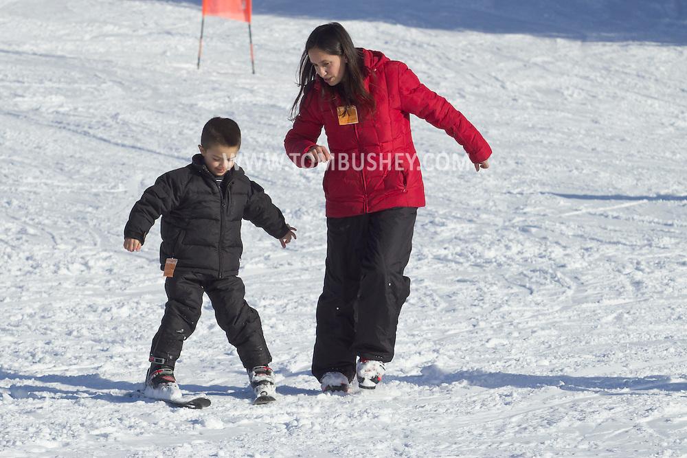 Warwick, New York - People ski and snowboard at Mount Peter Ski and Ride on Feb. 10, 2013.