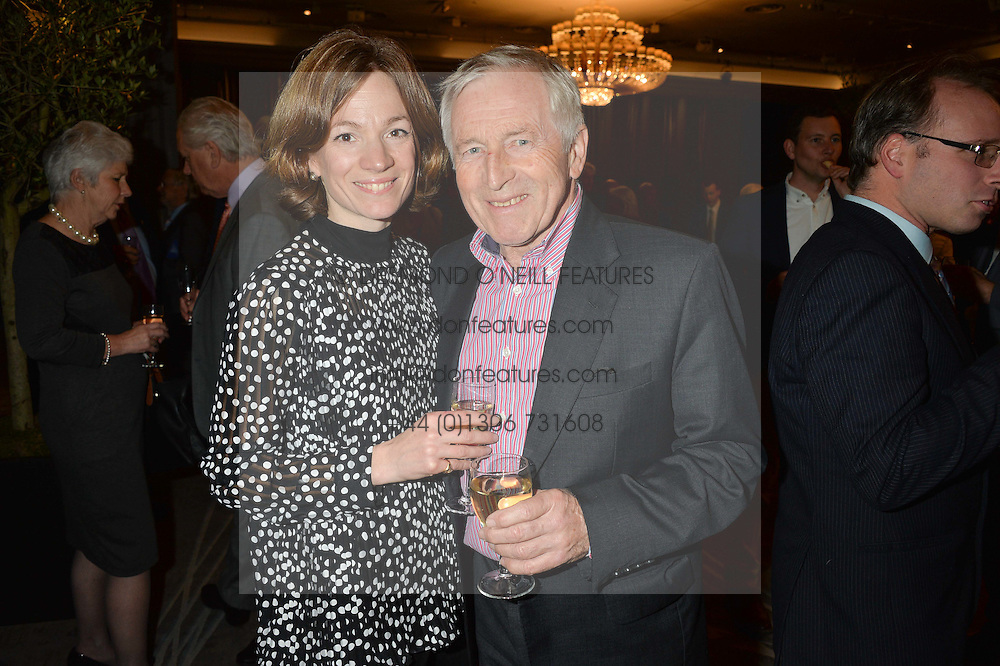 JONATHAN DIMBLEBY and his wife JESSICA at a party to celebrate the publication of Thenford: The Creation of an English Garden by Michael & Anne Heseltine held at The Grosvenor House Hotel, Park Lane, London on 24th October 2016.