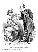 "Dr Curzon's Tonic Talks. ""There are still slight murmurs, dear lady, but I assure you you are not nearly so ill as you think you are."""