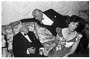Douglas Baker, Marmaduke Hussey and Lady Susan Hussey at Julian Will's 21st, Langton Court 1984© Copyright Photograph by Dafydd Jones 66 Stockwell Park Rd. London SW9 0DA Tel 020 7733 0108 www.dafjones.com