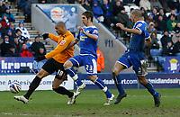 Photo: Steve Bond/Richard Lane Photography. <br />Leicester City v Hull City. Coca Cola Championship. 21/03/2008. Caleb Folan (L) shoots to score goal no2