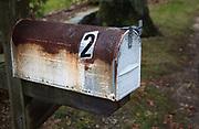 Image of John Steinbeck's old mailbox, Sag Harbor, New York, American Northeast by Randy Wells
