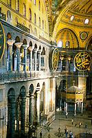 Interior, Hagia Sophia museum (Aya Sofya), Istanbul, Turkey
