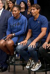 August 23, 2018 - New York City, New York, U.S. - Tennis players SERENA WILLIAMS and RAFAEL NADAL Ê attend the 2018 Lotte Palace Invitational Badminton Tournament held at the Lotte New York Palace. (Credit Image: © Nancy Kaszerman via ZUMA Wire)