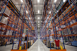 © Licensed to London News Pictures. 25/06/2013. London, UK. Sainsbury's newest state of the art logistics centre in Charlton, London, today (25/06/2013). Officially opened today, the logistics centre is currently responsible for supplying around 90 supermarkets in the South East and has so far created 60 jobs on site, with another 1000 to follow in the next three years. Photo credit: Matt Cetti-Roberts/LNP