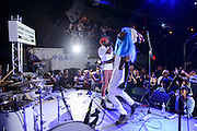 H09909 performing at the Red Bull Sound Select at Rough Trade in New York City on July 15, 2014.