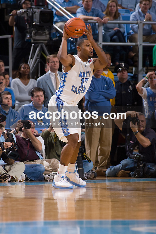 06 February 2008: North Carolina Tar Heels forward Will Graves (13) during a 89-78 loss to the Duke Blue Devils at the Dean Smith Center in Chapel Hill, NC.