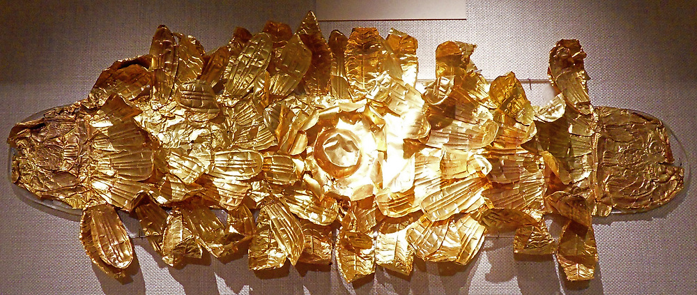 Etruscan gold wreath dating from the 4th -3rd century BC