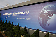 Northrup Grumman banner at the Farnborough Airshow.