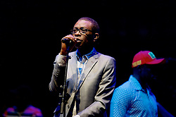 Youssou N'Dour is almost certainly the greatest figure in African music. He has been mesmerising audiences for more than three decades with his unmistakable soaring tenor, mixing Senegal's ancient traditions with eclectic world influences from Cuban rumba to hip-hop, jazz and soul.<br /> 24th August, 2016, (c) Brian Anderson   Edinburgh Elite media