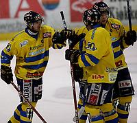 Ishockey   16  november   2006  - GET ligaen<br /> Hamar OL-Amfi    <br /> Foto: Dagfinn Limoseth, Digitalsport <br /> <br /> Storhamar v Stjernen <br /> <br /> Storhamar jubler etter scoring av Perry Johnson