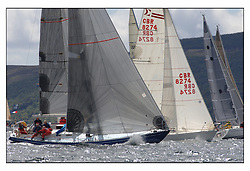 The third days racing at the Bell Lawrie Yachting Series in Tarbert Loch Fyne. Perfect conditions finally arrived for competitors on the three race courses...Reindeer a Swan 4300C in Class 3.