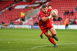 11th November 2018 , Racecourse Ground,  Wrexham, Wales ;  Rugby League World Cup Qualifier,Wales v Ireland ; Jake Emmitt of Wales in action<br /> <br /> <br /> Credit:   Craig Thomas/Replay Images