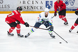 SABOLIC Robert (SLO) vs KRAKAUSKAS Emilijus (LTU) during OI pre-qualifications of Group G between Slovenia men's national ice hockey team and Lithuania men's national ice hockey team, on February 6, 2020 in Ice Arena Podmezakla, Jesenice, Slovenia. Photo by Peter Podobnik / Sportida