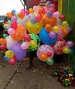 Selling baloons and ducks on Rue Andriamanelo, Antananarivo, Madagascar.